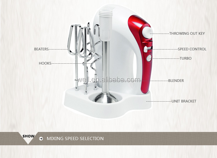 5 Speeds Electirc soup egg multi-function mixer blender set