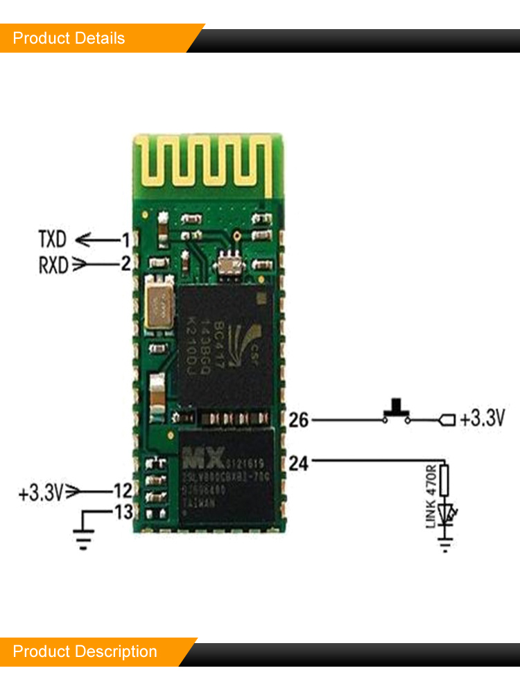 Wireless networking communication equipment module W200 bluetooth module