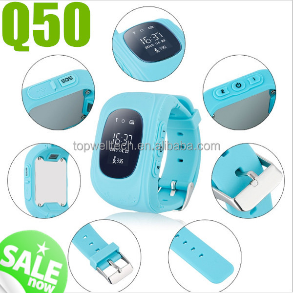 2017 hot sale Q50 gps kids smart watch with SIM card for IOS Android smart watch gt08 aw08 u8 dz09