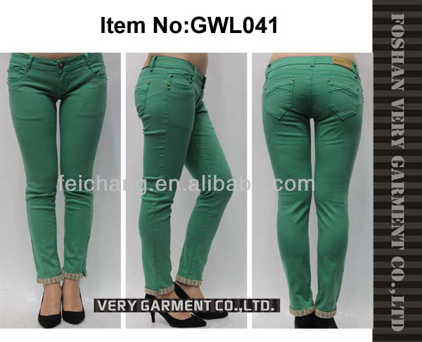 Wholesale skinny colorful jeans for women