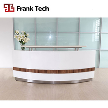 Modern furniture Office/Hotel/Salon/Hospital front white curved reception desk