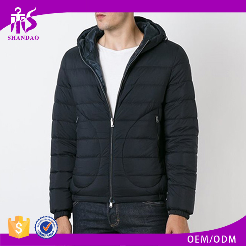 Wholesale Plain Dyed High Quality Thick Down Feather Padded Cotton coats male