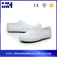 Cheap safety plain white nurse canvas shoes women china
