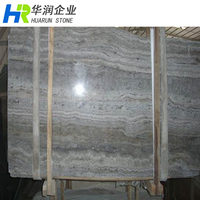 Silver Grey Travertine Stone Slab