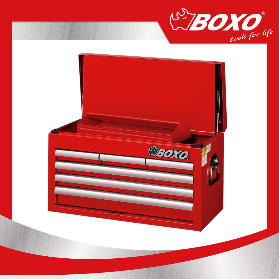 BOXO ECC2661 Industrial Work Shop Wheel Slider Metal Trolley Tool Box