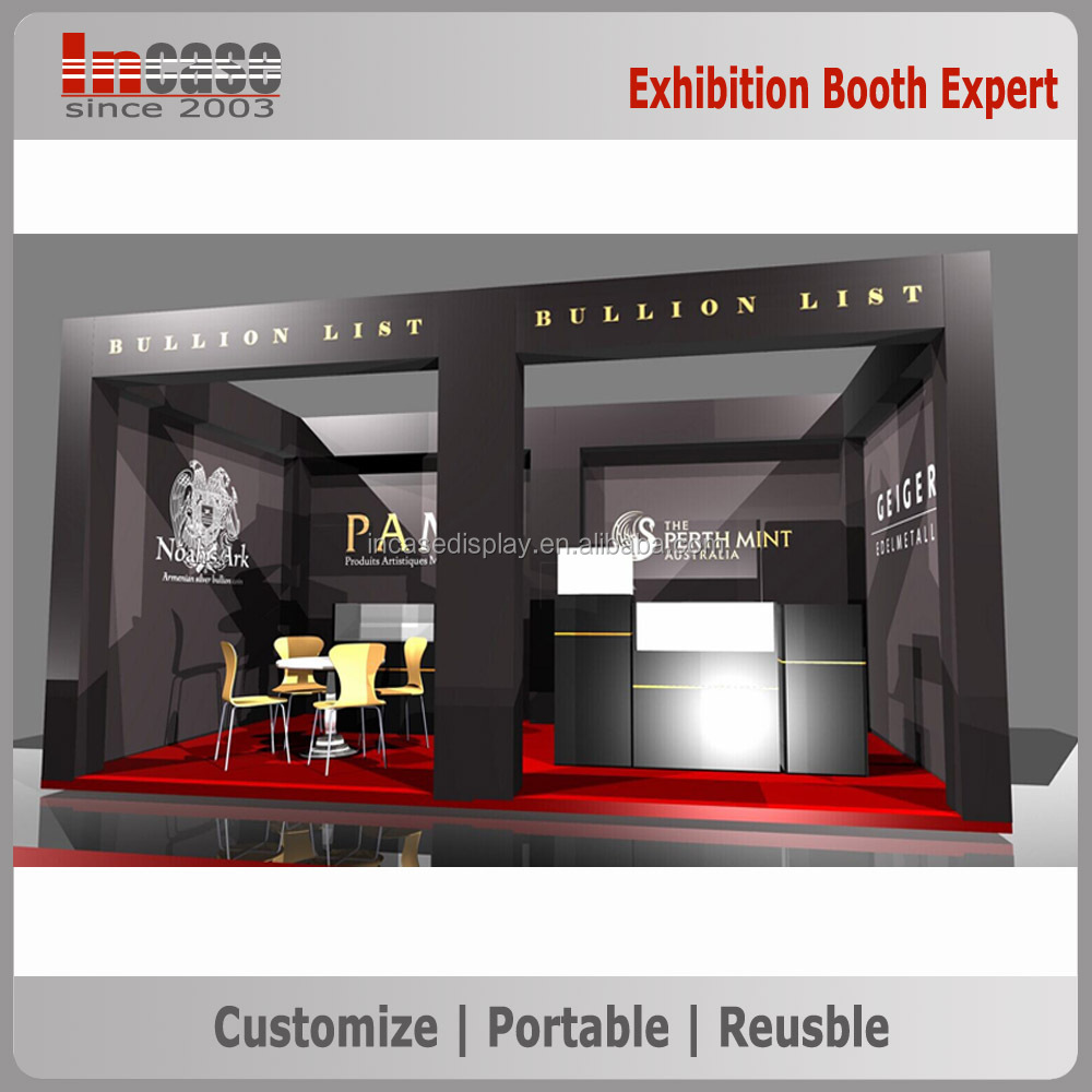 Standard Exhibition Booth : Standard modular exhibition system booth used trade show