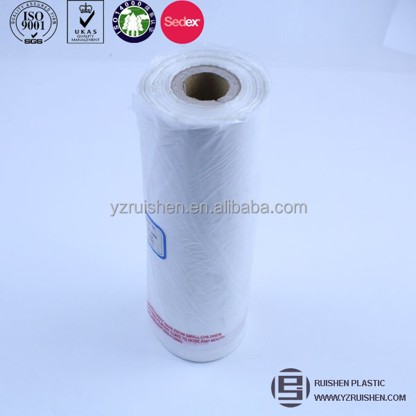 Transparent hdpe supermarket plastic roll bags for cookies,bopp bags for cookies