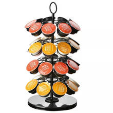 Amazon Hot Sale Metal Wire Iron Stainless Steel Foldable Revolving Carousel 36 Pods K-cup Lavazza Coffee Capsule Pod Holder