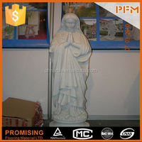 2014 PFM hot sale natural beautiful hand carved white nature marble stone statue of children