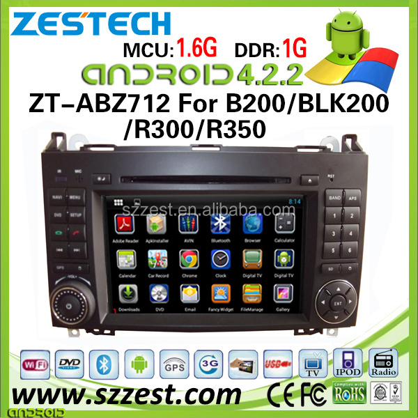 ZESTECH android car dvd player for Mercedes-Benz A160/ A180/ B200/ Vito/ B150/ B170 gps navigation