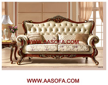 Heated royal Arabic majlis leather sofa for middle east market