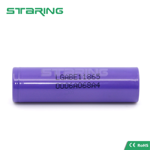 Hot selling purple LG E1 18650 3200mAh 3.7V li-ion rechargeable battery