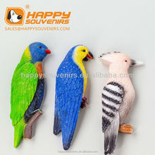 2016 Lucky parrot birds animal 3D custom fridge magnet for home decor,decoration souvenir