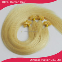 Wholesale pre-bonded human hair products U tip style double drawn Malaysia Hair