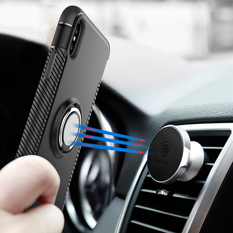 Ring holder air vent megnetic cell phone case for iphoneX case phone cover