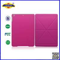 triangle pattern stand leather cover hard hybrid case for ipad 5-- Laudtec