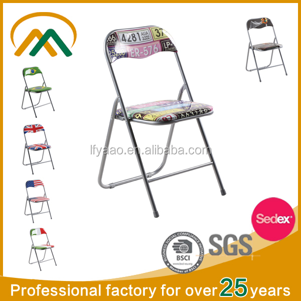 wholesale Metal Frame Chair,Supported Customer,PVC Folding Chair KP-C9802