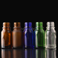 wholesale custom 10ml clear blue green amber glass bottle for essential oil