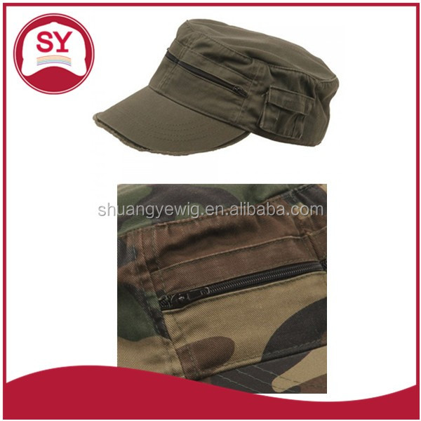Long bill plain military officer cap for ladys and gentlemen