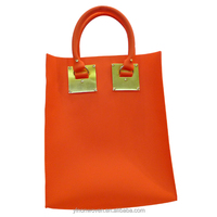 Custom made silicone eco friendly shopping bag fashion tote handbag 2014 High quality
