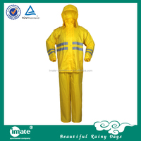 Fashional plastic rain coats with hat