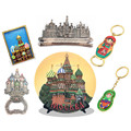 Russia souvenir decorative plates, magnets, keychains, openers, mugs, bulk custom Russian souvenirs