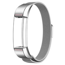 Silver Band with Pink Diamond for Fitbit Alta HR and Fitbit Alta strap