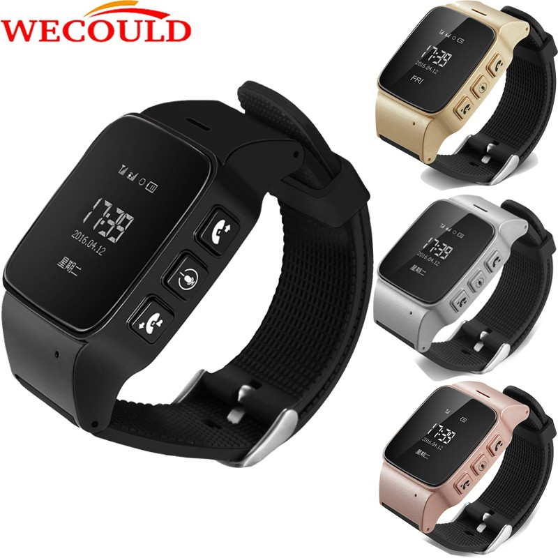 Wecould phone smart watch D99 with SOS GPS LBS WIFI locate remote voice monitoring for old man