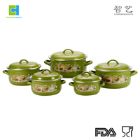 Hot sell 5Pcs High quality enamelware casserole cook set