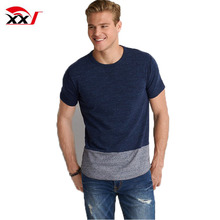 Mens newest design apparel color block crew neck t-shirt online shopping alibaba