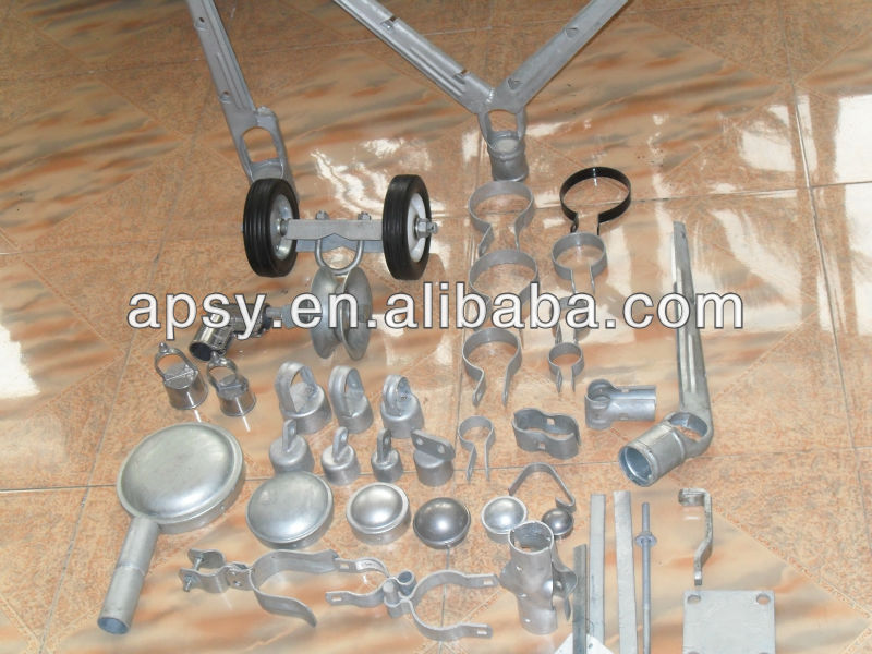 Temporary fence hardware kits hot dip galvanized chain link fence panel clamps