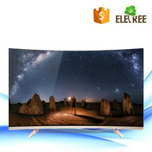 "Curve 55""65"" Inches Smart TV English Interface HD Screen Real 4K 3840*2160 Ultra HD Quad Core Household TV"