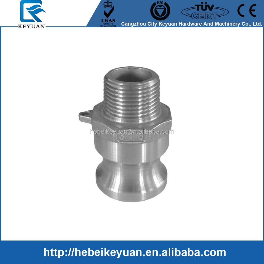 "1/2"" Type F Adapter 304 Stainless Steell NPT taper thread"