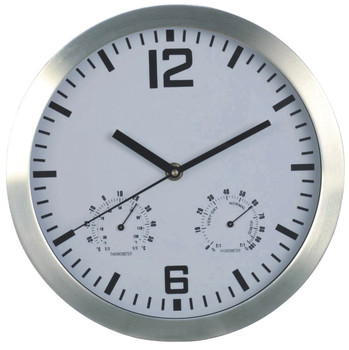 "14"" quartz analog morden large metal wall clock"