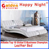 Foshan Happy Night cebu philippines furniture leather bed (HG926)