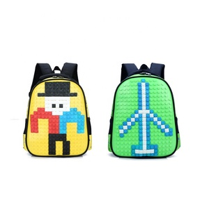 Silicone Puzzle DIY Children Student Backpack