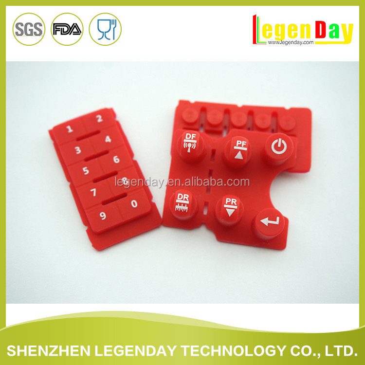 Multi types and shapes served electronic soft silicone rubber buttons
