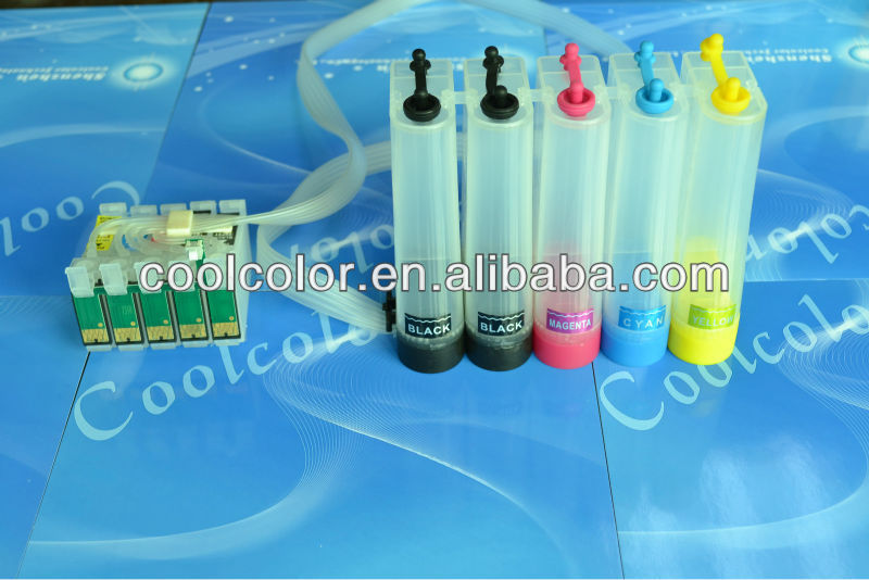 Wholesale price !Diy ciss ink tank for epson hp canon brother external ink tank with 5colors color-base ink tank