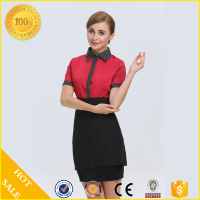 2017 fashion design OEM manufacture hotel housekeeping uniform