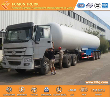 3axles LPG tanker liquid Butane transporter semi trailer for export