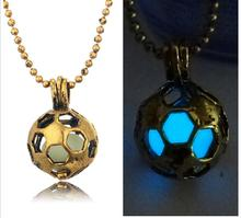 New style best selling on alibaba vinatge brass glow football charm