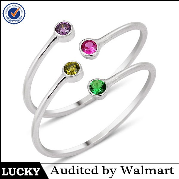 925 sterling silver dual birthstones couples ring green gem rings