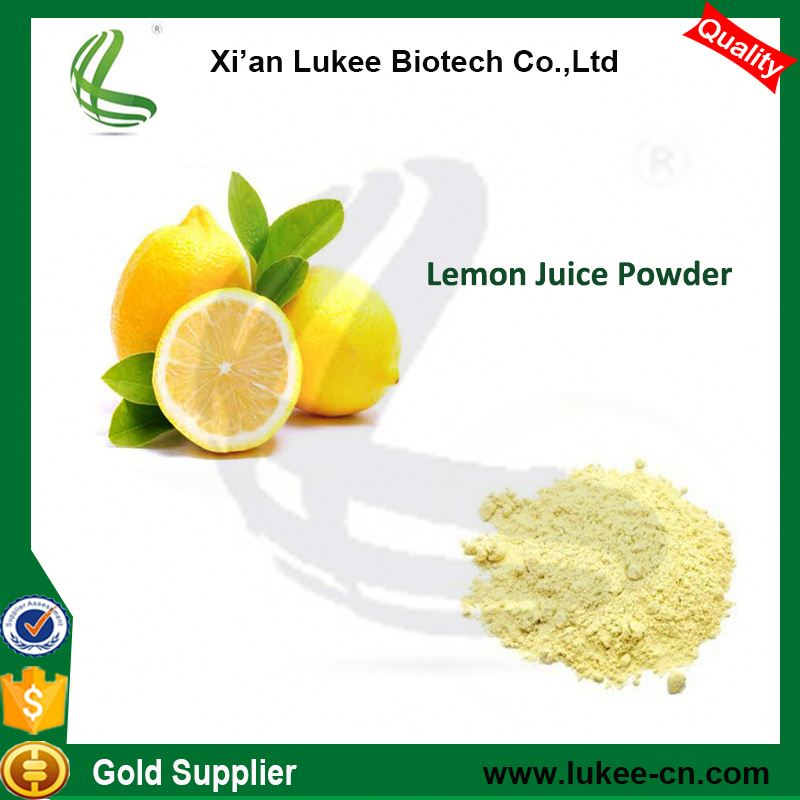 Spray Dried Yellow Lemon Juice Powder For Beverage