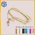 1.5m Nylon Line Metal Plug Data Cable For Andriod Sync Charging Guangzhou Data Line
