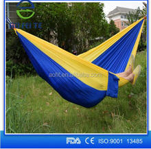 Lightweight Portable Nylon Parachute Hammock with Two Hammock Two Straps and Carrying Case