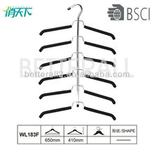 WL183 Rubber Foam Metal Hangera With Ten Tie Rack