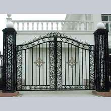 house decorative double wrought parts wheel iron gates models