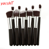 yaeshii 10pcs professional custom logo Synthetic Hair cosmetic makeup brush set