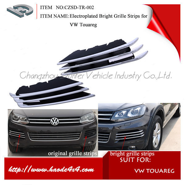abs plastic front air inlet ventilation grill for vw touareg