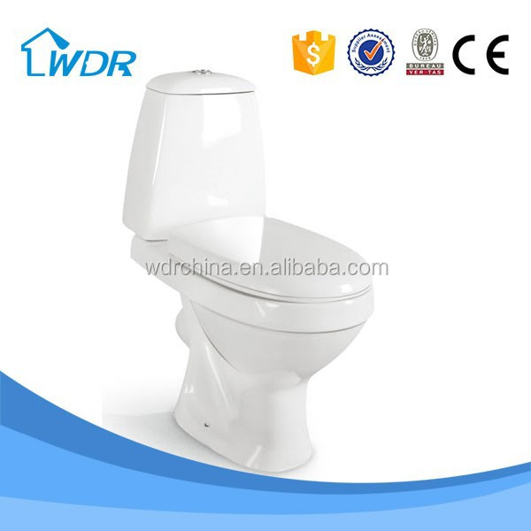 Washdown bathroom wc Two Piece Ceramic sanitary ware P TRAP toilet bowl price